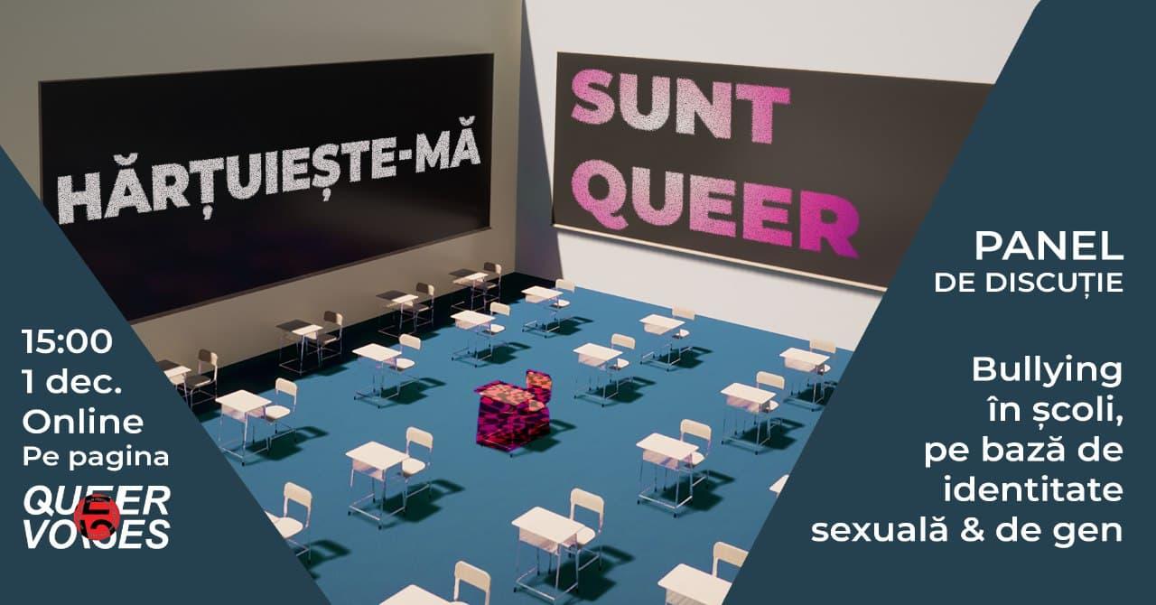 Discussion panel Hărțuiește-mă! Sunt Queer